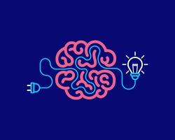 Brainstorming  creative idea. Innovation and solution, vector illustration.