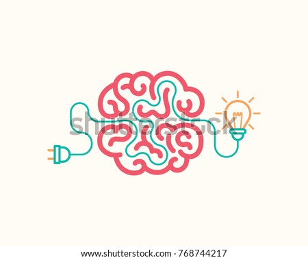 Brainstorming creative idea. Innovation and solution, vector illustration.