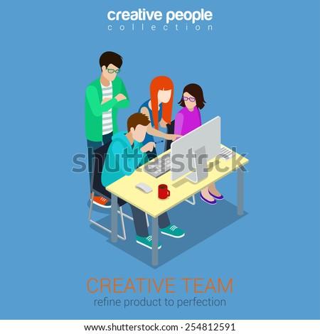 brainstorming creative team