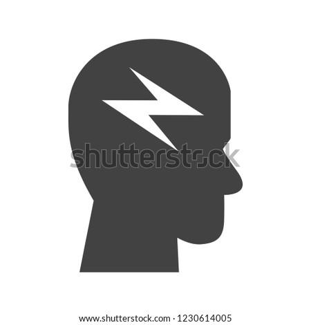 Brainstorming Glyph black icon