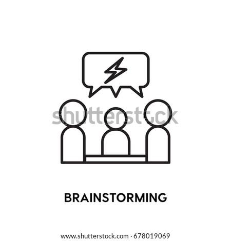 Brainstorming Vector Icon