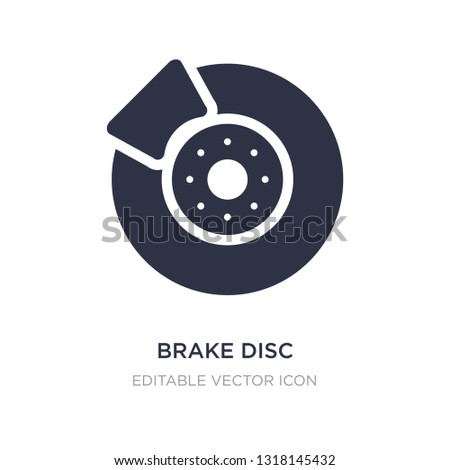 brake disc icon on white background. Simple element illustration from Transportation concept. brake disc icon symbol design.