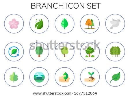 branch icon set 15 flat branch