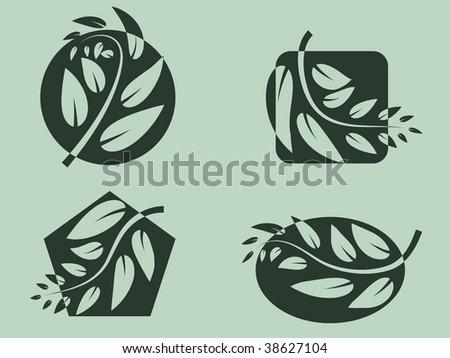 Branch logos. Vector illustration.