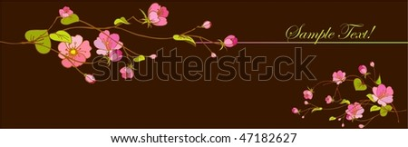 Branch of Flowers , spring is come - stock vector