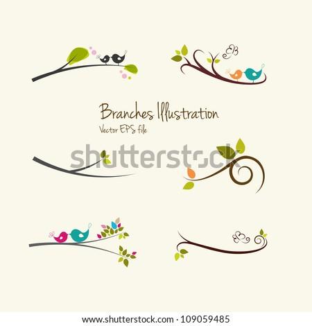 branches art illustrations