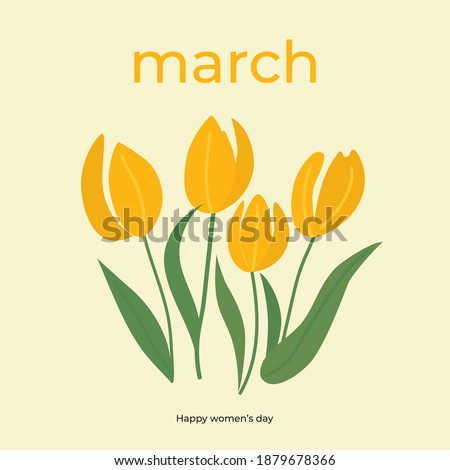 branches of tulip flowers and