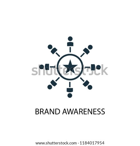 Brand Awareness icon. Simple element illustration. Brand Awareness concept symbol design. Can be used for web and mobile.