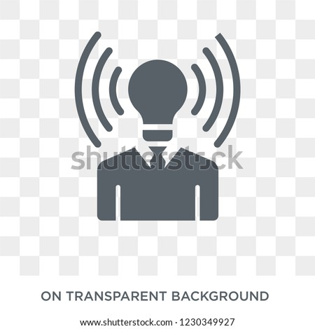 brand awareness icon. Trendy flat vector brand awareness icon on transparent background from general  collection.