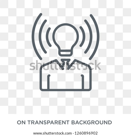 brand awareness icon. Trendy flat vector brand awareness icon on transparent background from general  collection. High quality filled brand awareness symbol use for web and mobile