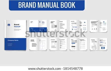 Brand Guideline Template Brand Style Guide Book Brochure Layout Book Brand Manual Blue Brand Guideline Template