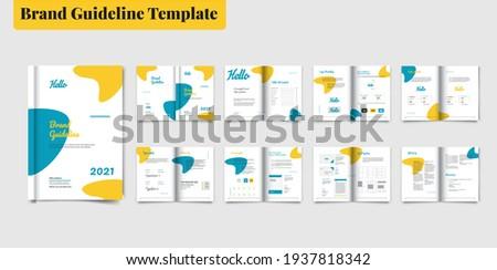 Brand Guideline Template Brochure Brand Guideline Template Style Guide Book Brochure Layout Brand Book Brand Identity