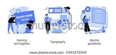 Brand identity abstract concept vector illustrations.