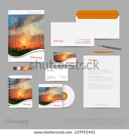 royalty free brand identity company style template 229992427 stock
