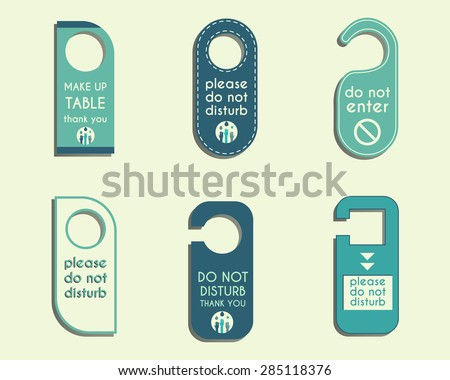 Free Do Not Disturb Door Hanger Vector Set  Download Free Vector