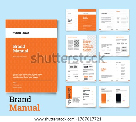Brand Identity Guideline Template Brand Style Guide Brochure Layout Brand Book Branding Guideline