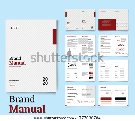 Brand Manual Minimal and Professional branding guidelines Brand Guideline Brand Book Identity Design Guideline Design corporate identity