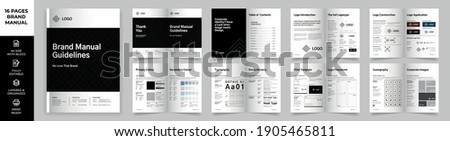 Brand Manual Template, Simple style and modern layout Brand Book, Brand Identity, Brand Guideline, Guide Book Сток-фото ©
