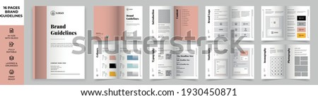 Brand Manual Template, Simple style and modern layout Brand Book, Brand Identity, Brand Guideline, Guide Book