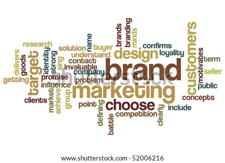 Brand Marketing - Word Cloud - stock vector
