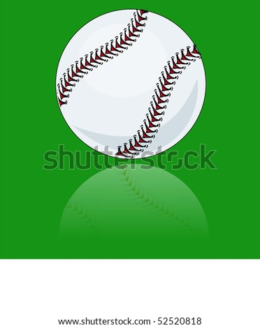 stock-vector-brand-new-baseball-illustration-vector-reflected-on-green-background-52520818.jpg