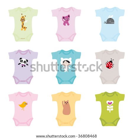 Baby Fashion Designer Games on Stock Vector   Brand New Born Baby Clothes For Boys And Girls   In