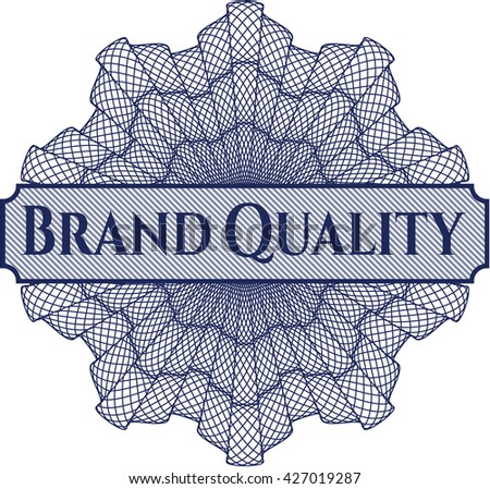 Brand Quality written inside abstract linear rosette