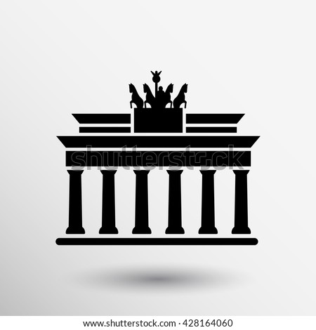 brandenburg gate icon berlin