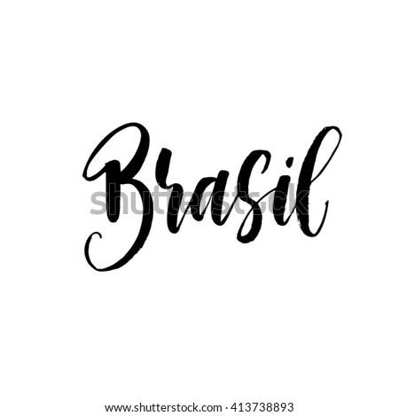 brasil hand lettering brazil