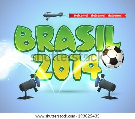 Brasil soccer design EPS10 RGB