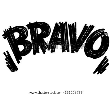Bravo Header - Retro Clip Art Illustration