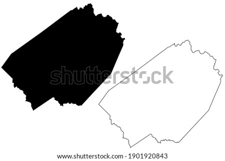 Braxton County, State of West Virginia (U.S. county, United States of America, USA, U.S., US) map vector illustration, scribble sketch Braxton map Stock fotó ©