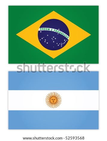 brazil and argentine flag