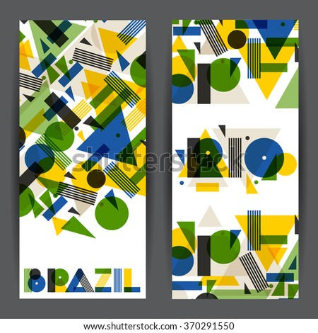 brazil and rio banners in