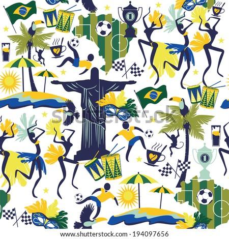 brazil background seamless