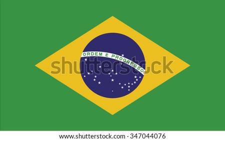Brazil; Brasilia; Brazilian Flag vector image