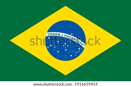 Brazil - Brazilian Flag Símbolo Nacional Foto stock ©