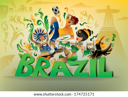 Brazil Carnival, Brasil Carnaval, Fun, Party, Brazilian Dance (vector Art)
