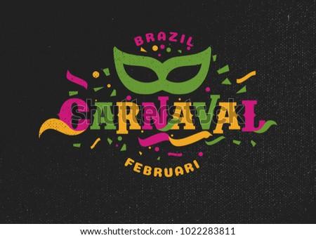 Brazil Carnival Moment 2018 Celebration Background for Poster and Banner. Vector eps.10