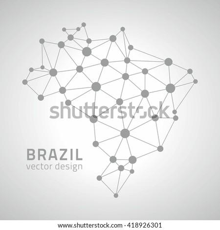 brazil contour vector america