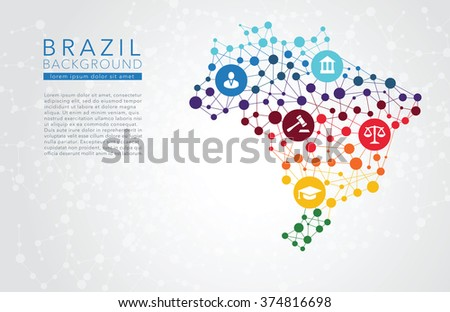Brazil dotted vector background