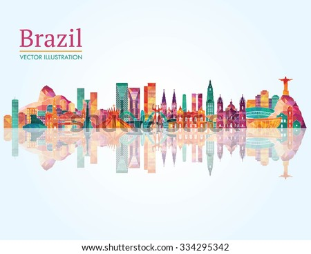 brazil famous monuments skyline