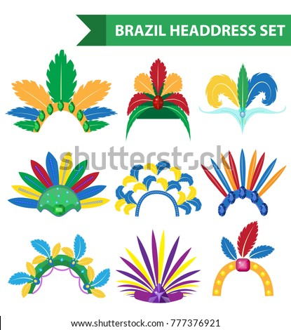brazil feather headband