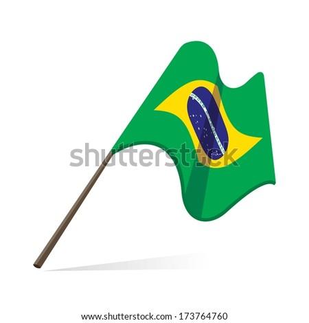 brazil flag, brazilian flag waving