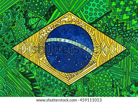 brazil flag ethnic national