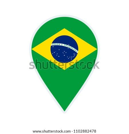 brazil flag icon travel icon