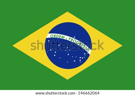 brazil flag over green