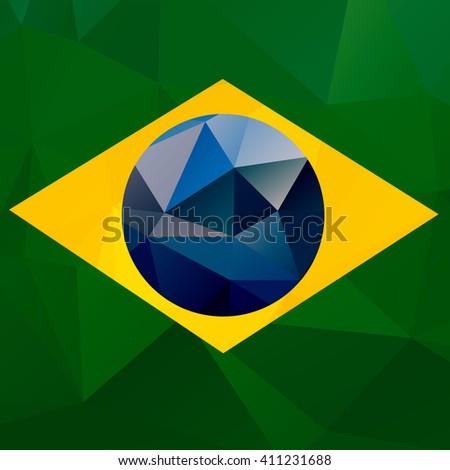 brazil flag vector geometric