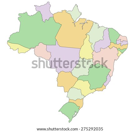 Free Vector Map Of Brazil Free Vector Art At Vecteezy - Brazil political map