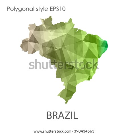 brazil map in geometric